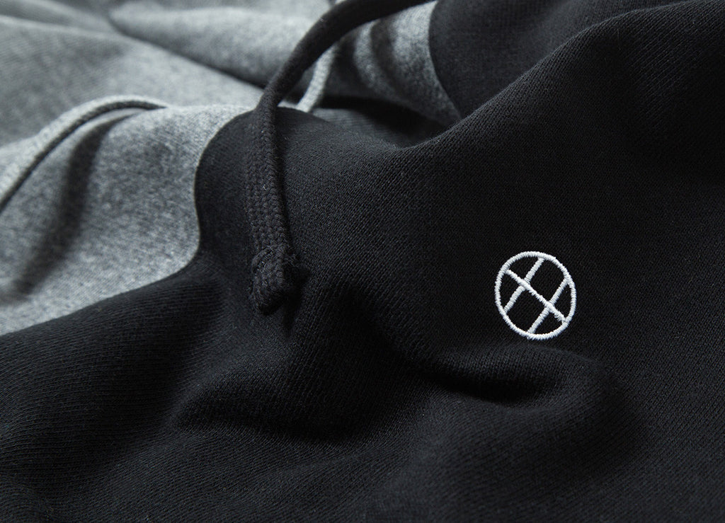 HUF Henry Pullover Hoody - Black Charcoal Heather