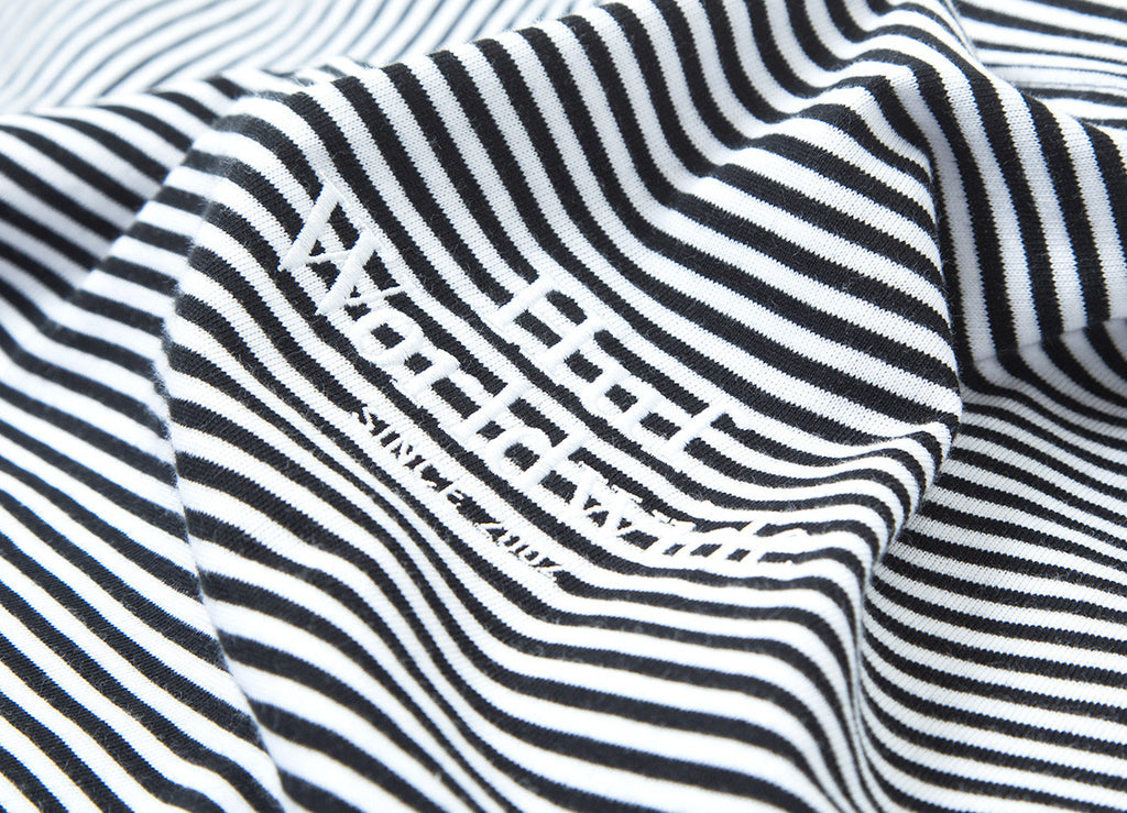 HUF Royale Stripe T Shirt - White Black