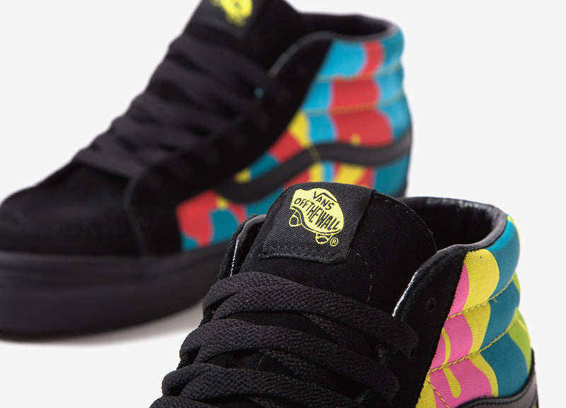 Vans Sk8-Mid Reissue (Neon Camo) Shoes - Multi Camo/Black