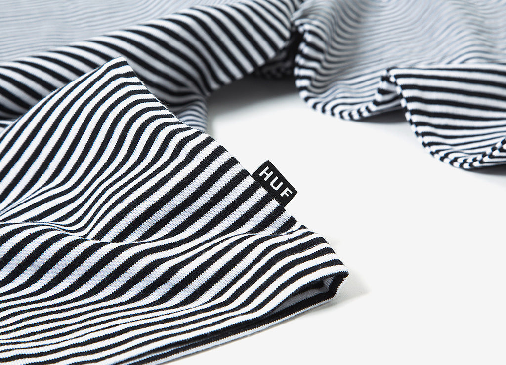 HUF Royale Stripe Long Sleeve T Shirt - White Black