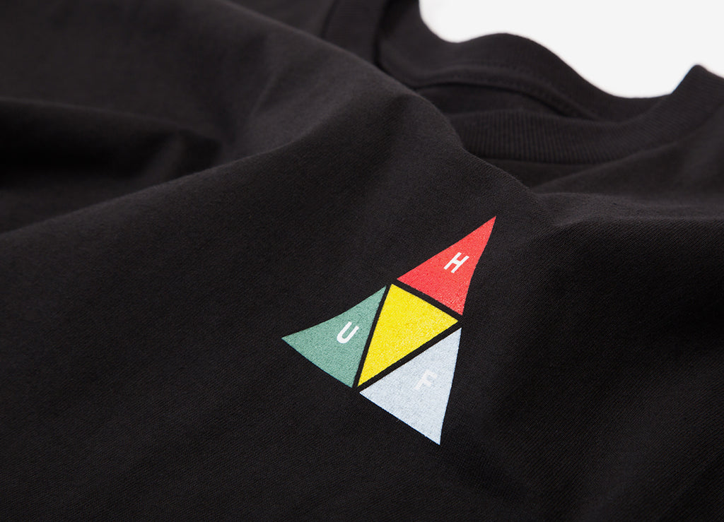 HUF Prism Triangle T Shirt - Black