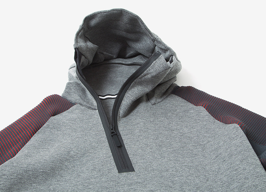 Nike Tech Fleece Pullover Hoody - Carbon Heather/Black