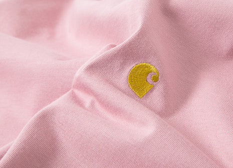 Carhartt Chase T Shirt - Soft Rose/Gold