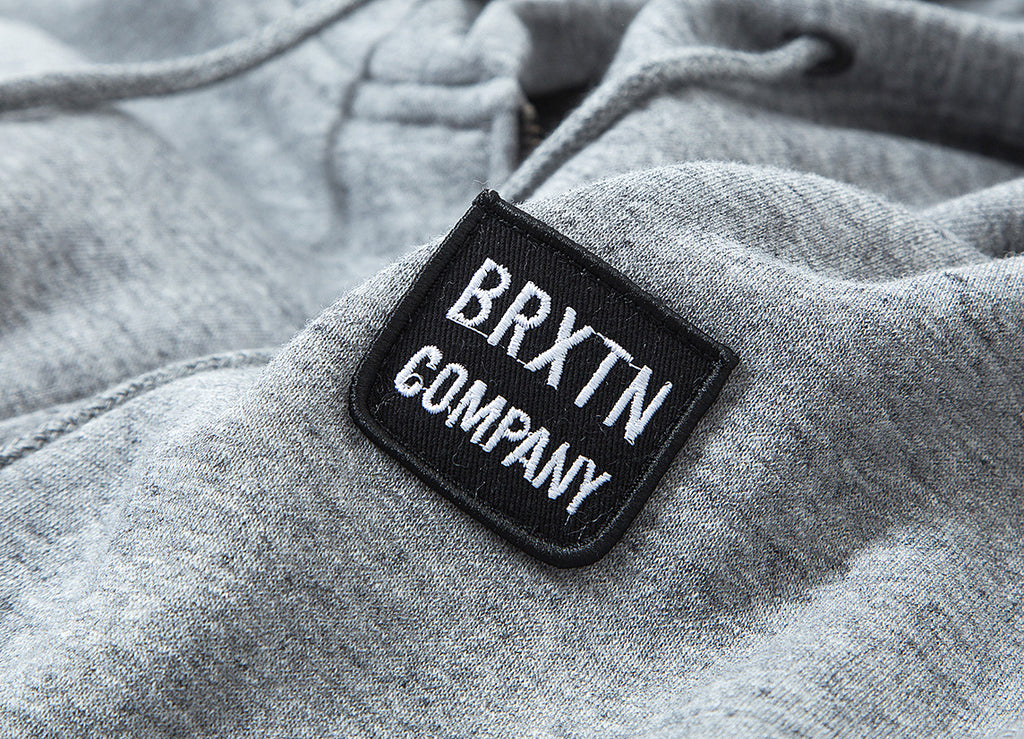 Brixton Bering Zip Hoody - Heather Grey