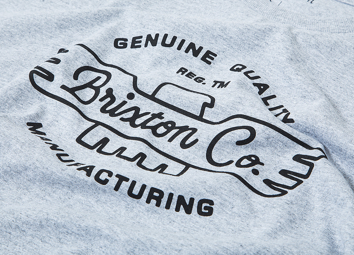 Brixton Concord T Shirt - Heather Grey