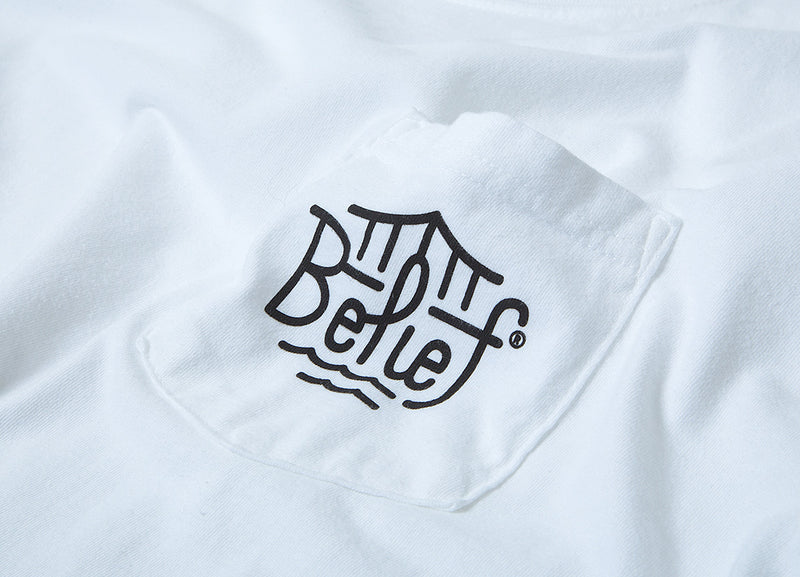 Belief Triboro Pocket T Shirt - White