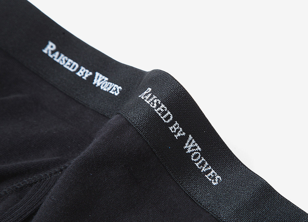 Raised By Wolves Logotype Boxer Shorts - Black (3 Pack)