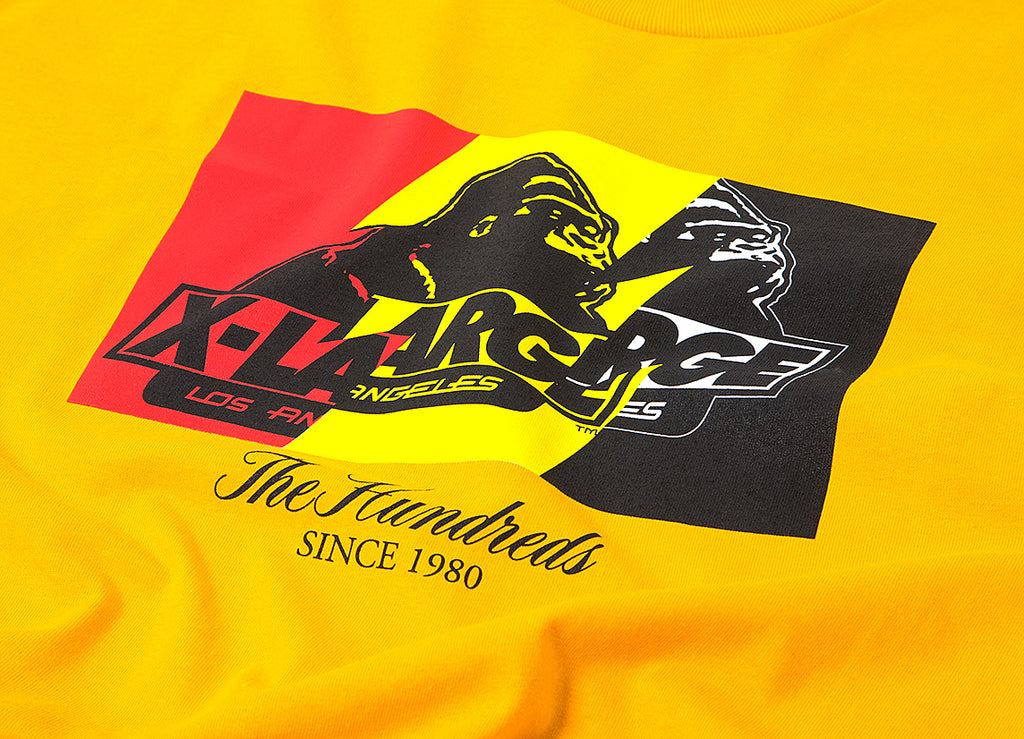 The Hundreds x XLarge Wildfire-X T Shirt - Gold