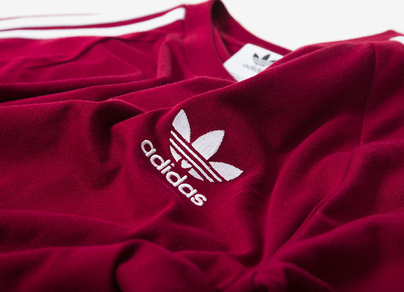 adidas Originals 3-Stripes T Shirt - Collegiate Burgundy