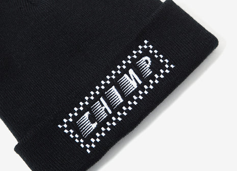 Chimp Raceway Embroidered Beanie - Black