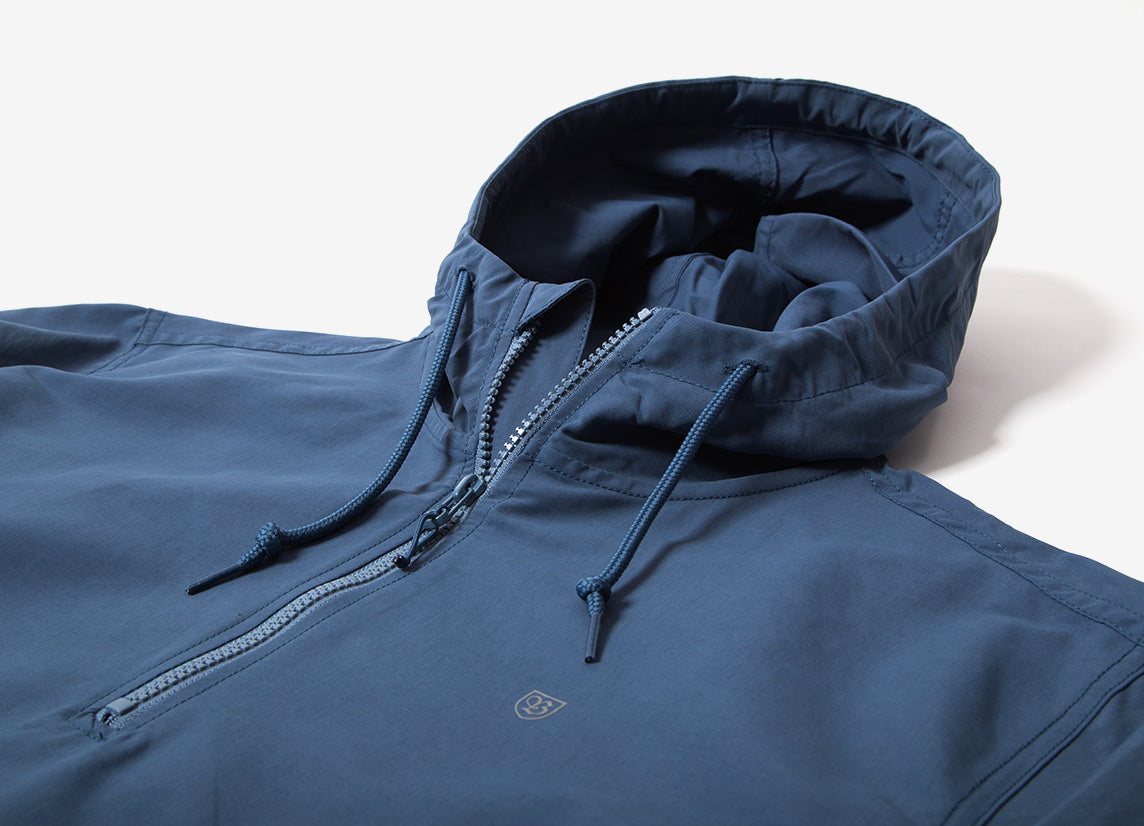 Brixton Patrol Anorak Jacket - Dusty Blue