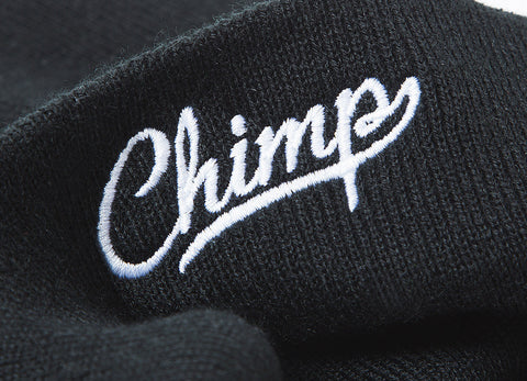 Chimp Embroidered Micro Script Beanie - Black