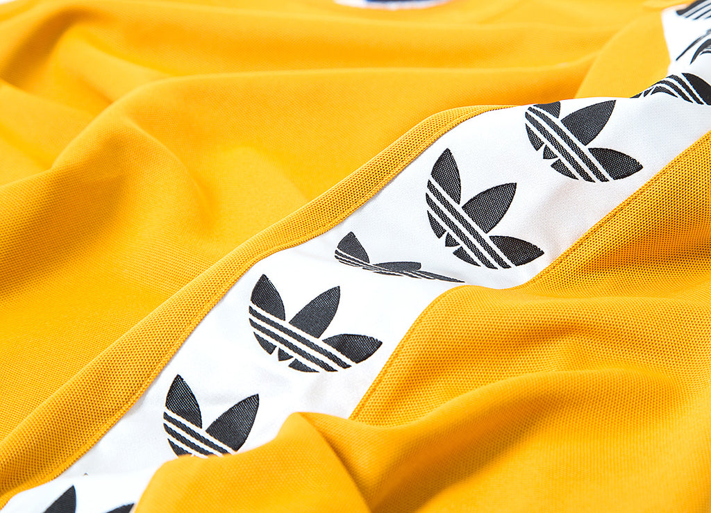 adidas Originals TNT Trefoil Tape T Shirt - Tactile Yellow