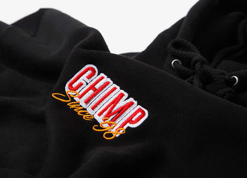 Chimp Stacked Pullover Hoody - Black