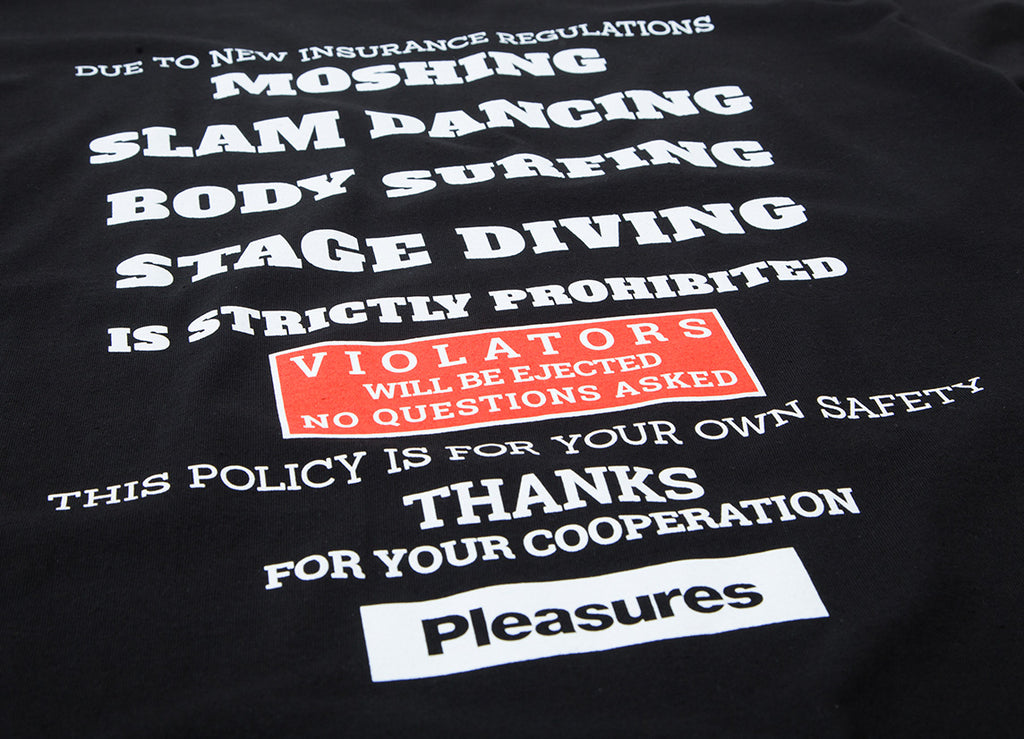 Pleasures Guidelines T Shirt - Black