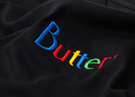 Butter Goods Web Embroidered Classic Logo T Shirt - Black
