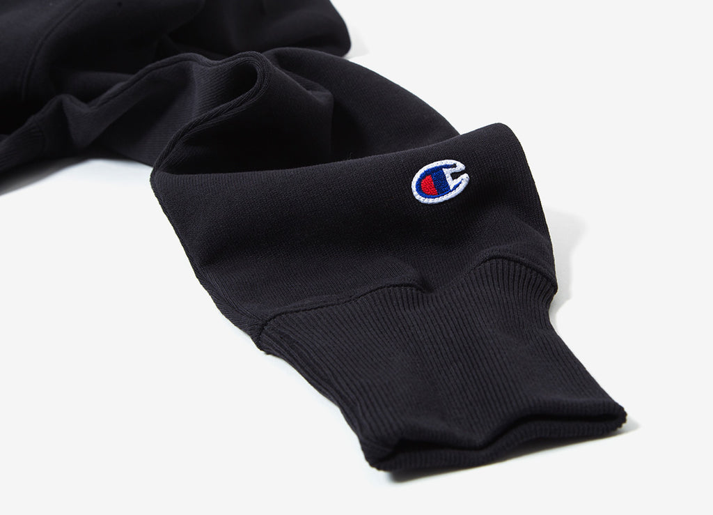 Champion Reverse Weave Pullover Hoody - Black