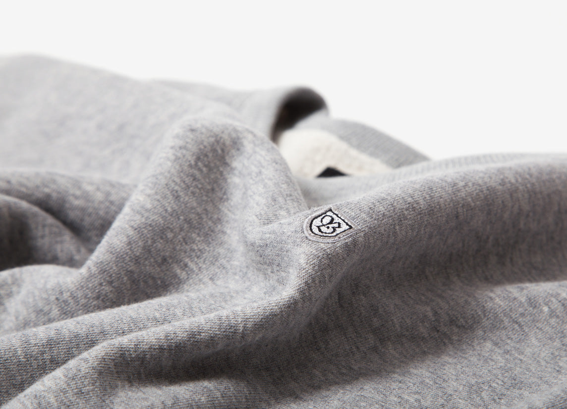 Brixton B-Shield Crewneck Sweatshirt - Heather Grey