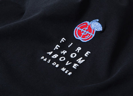 Pas de Mer Fire From Above T Shirt - Black