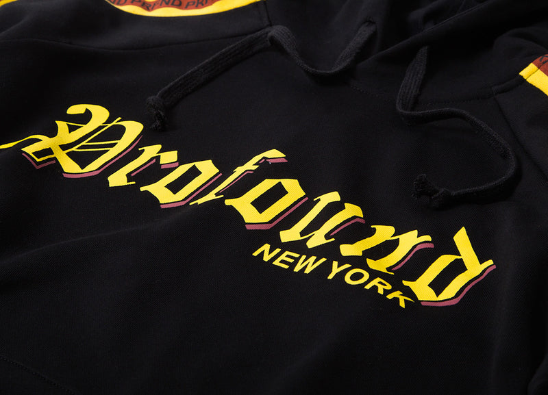 Profound Aesthetic Old Timers Logo Pullover Hoody - Black