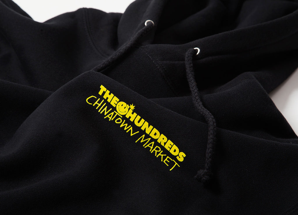 The Hundreds x Chinatown Market Crossout Adam Pullover Hoody - Black