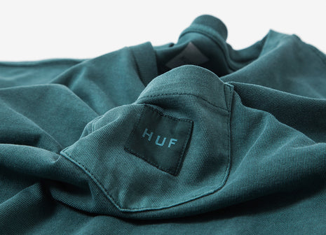 HUF Woven Label Pocket T Shirt - Washed Green