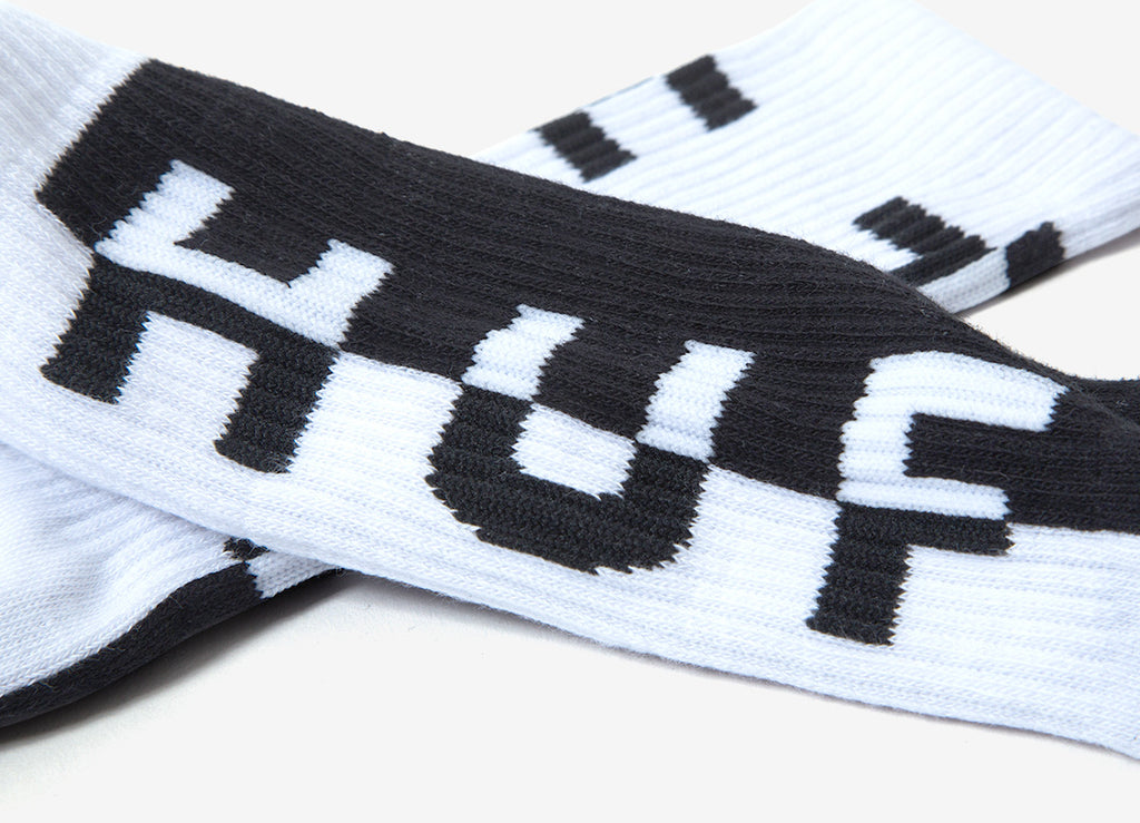 HUF Split Crew Sock - White