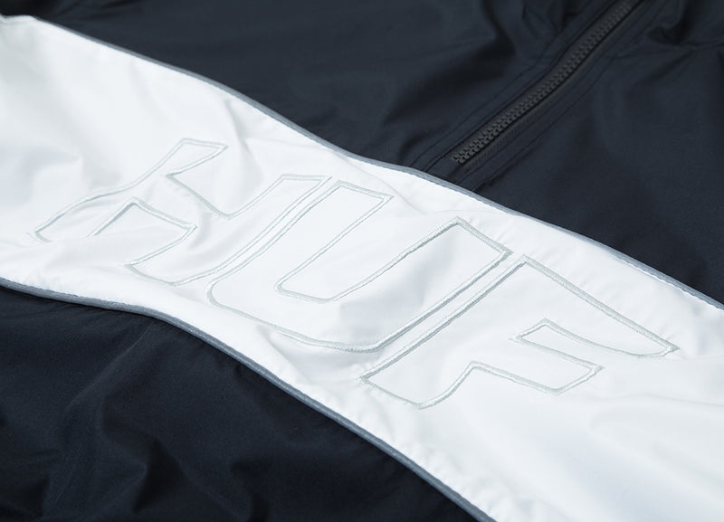 HUF Stadium Half Zip Track Jacket - Black