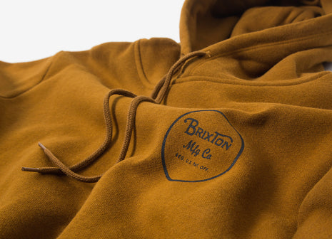 Brixton Wheeler Pullover Hoody - Copper/Black