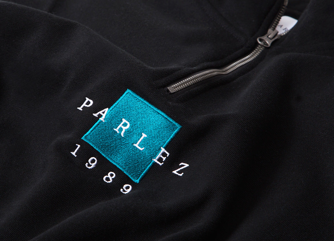 Parlez Mavar 1/4 Zip Sweatshirt - Black