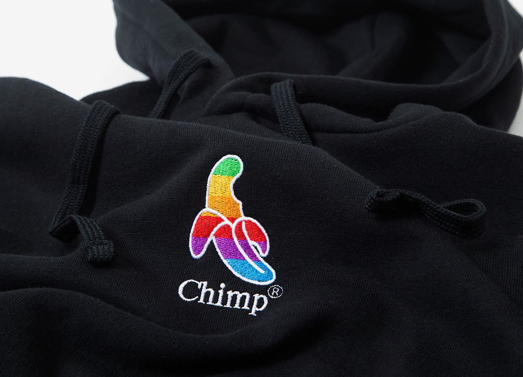 Chimp Throwback Embroidered Pullover Hoody - Black