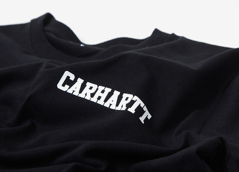 Carhartt College Script T Shirt - Black/White