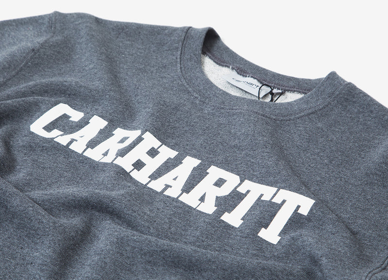 Carhartt College Sweatshirt - Dark Grey/Heather White