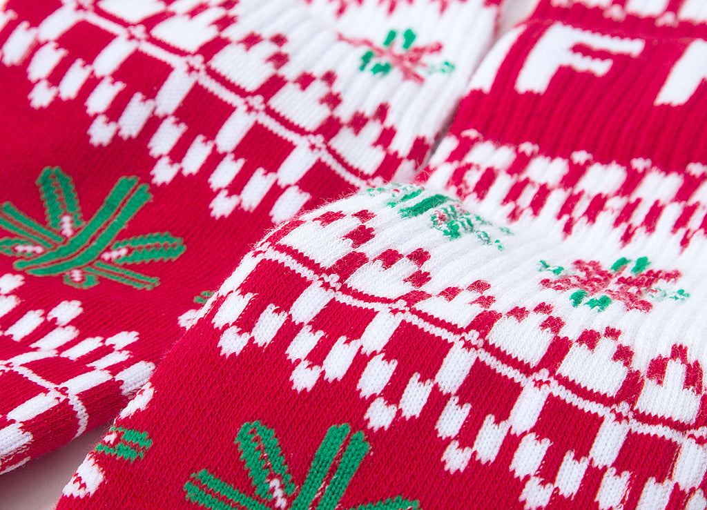 HUF Holiday Sweater Socks - Red