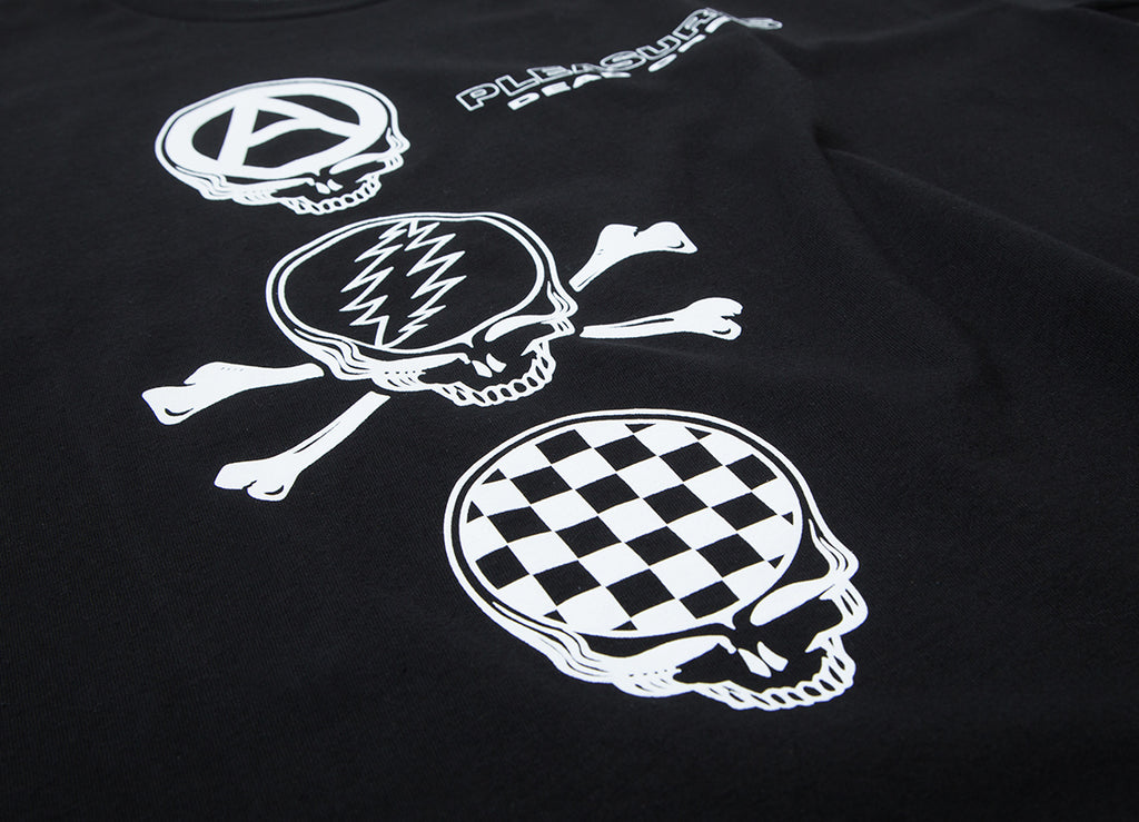 PLEASURES Grateful Dead Crew T Shirt - Black