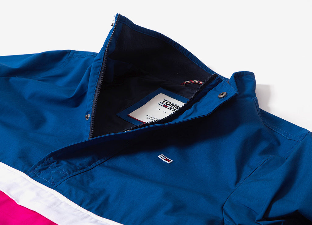 c48ff19f443 Tommy Jeans Lightweight Colorblock Popover Jacket | Tommy Jeans ...