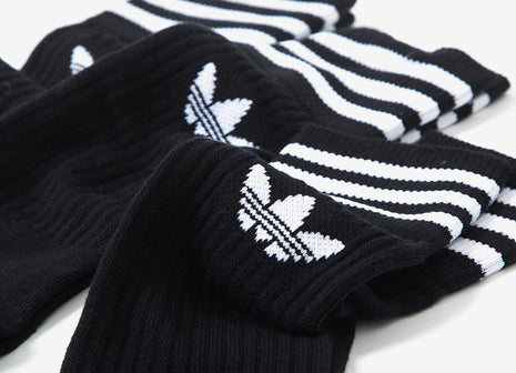 adidas Originals Crew Socks (3-Pack) - Black/White