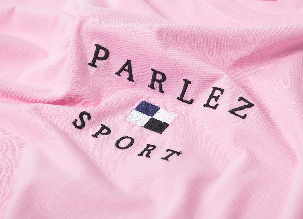 Parlez Sports Flag T Shirt - Pink