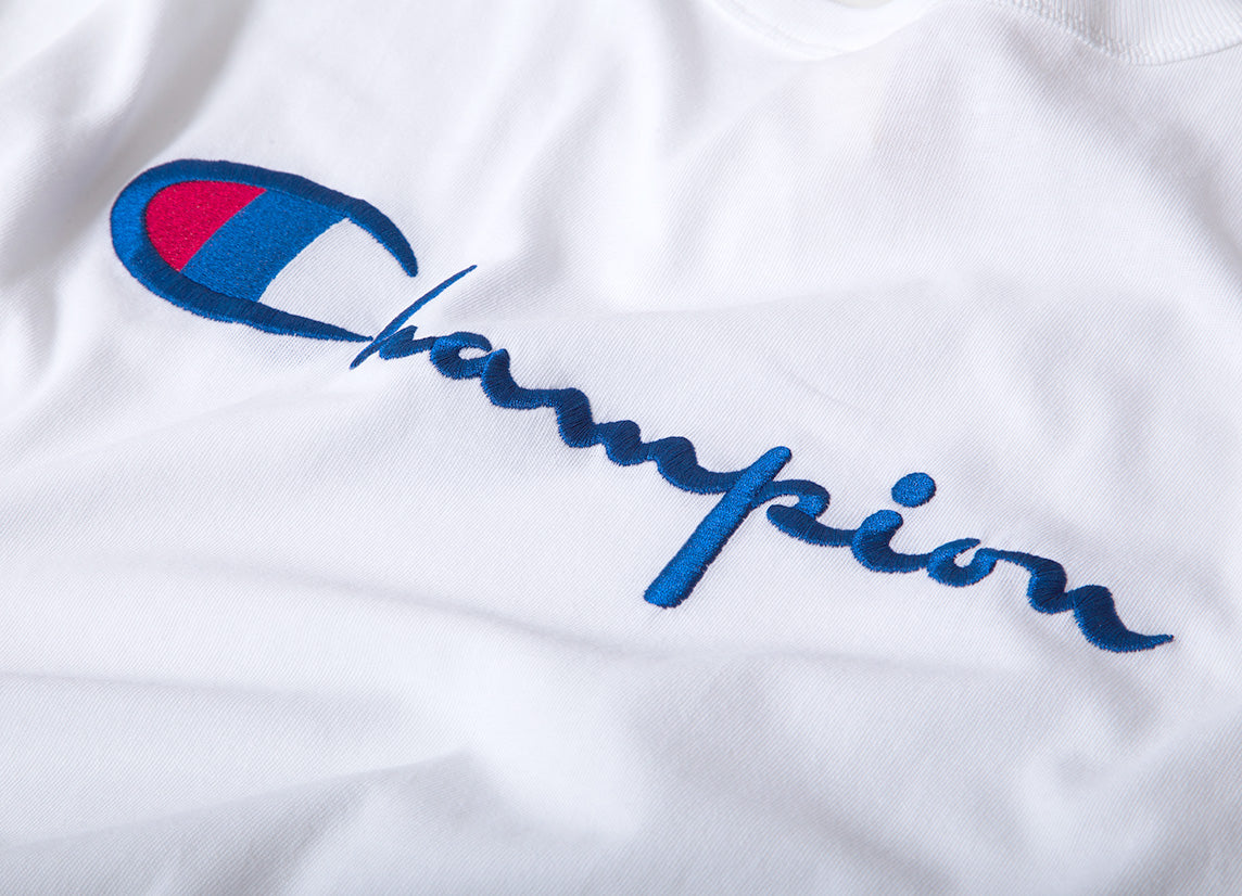 Champion Embroidered Crewneck T Shirt - White