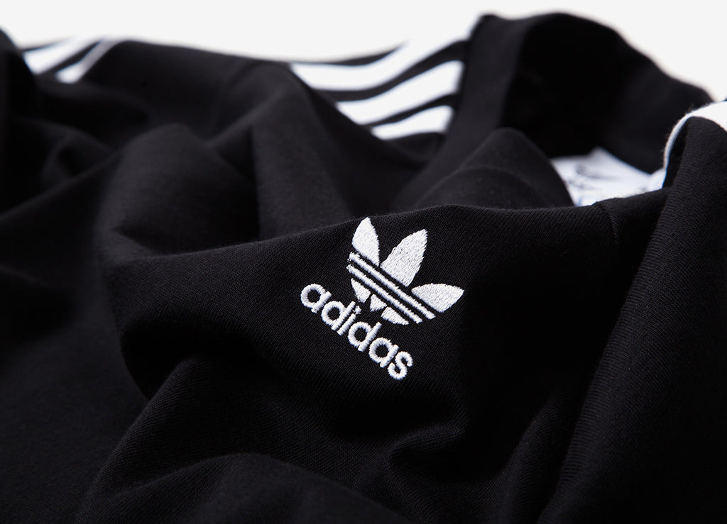 adidas Originals 3-Stripes Long Sleeve T Shirt - Black