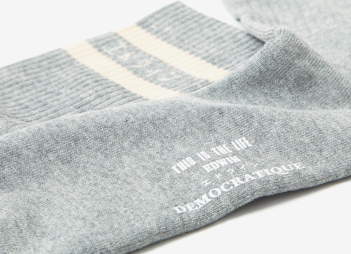 Edwin x Democratique Classic Tube Socks - Grey