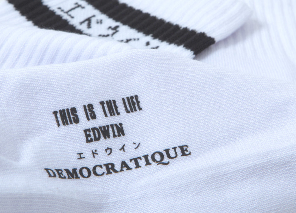 Edwin x Democratique Classic Tube Socks - White