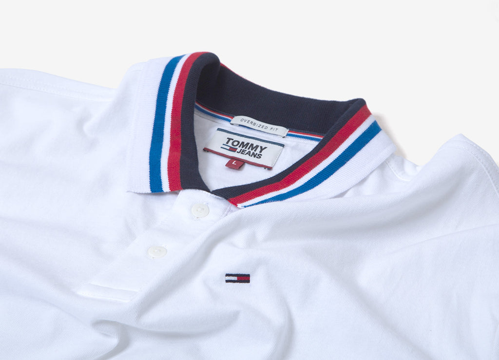 Tommy Jeans Contemporary Polo Shirt - Classic White
