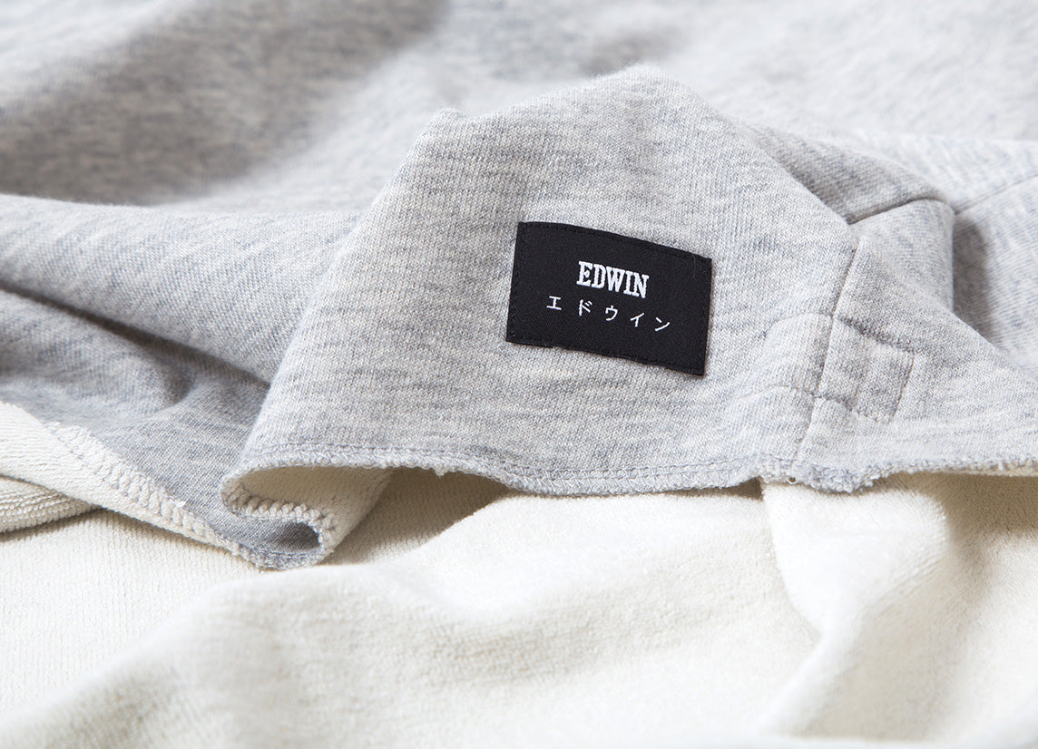 Edwin Terry TS Long Sleeve T Shirt - Grey Marl Garment Washed