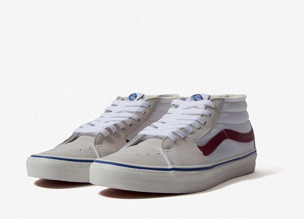 Vans Sk8-Mid Foam Shoes - True White/Marshmallow