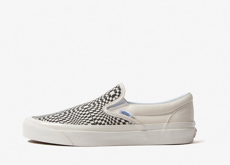 Vans Classic Slip On 98 DX 'Anaheim Factory' Shoes - Black/White/White