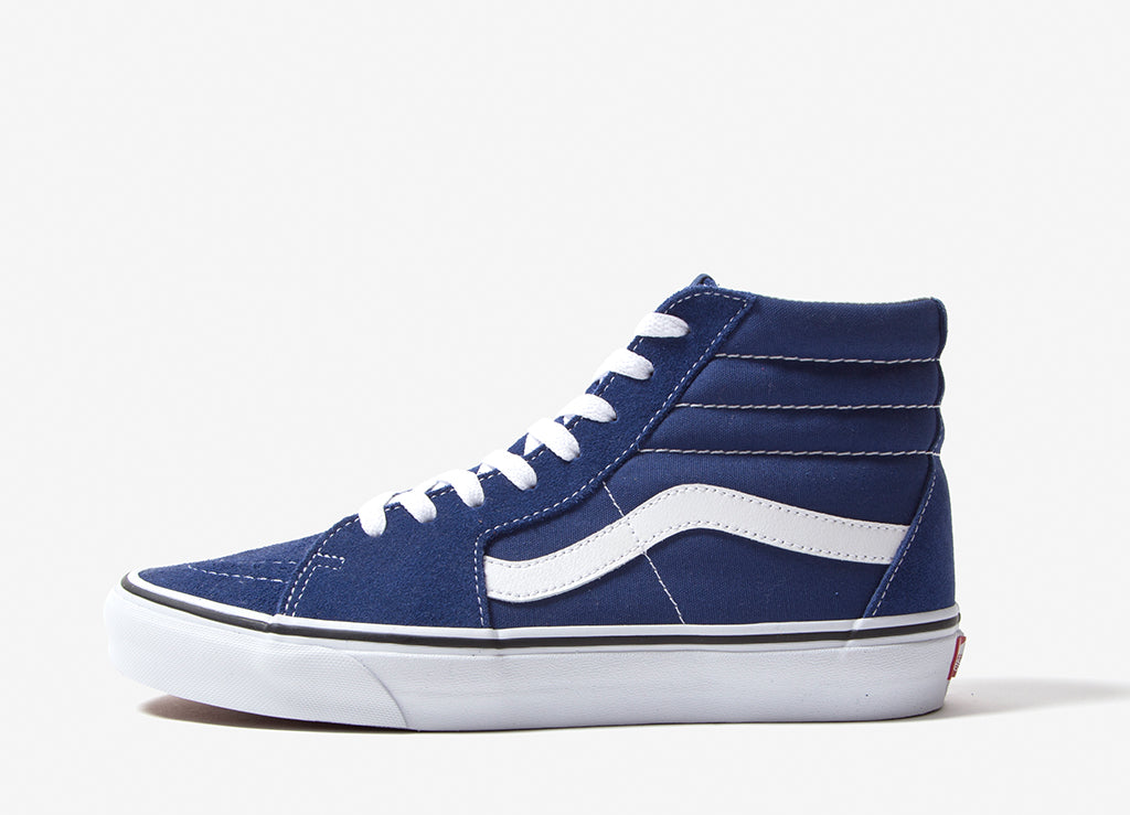 bbfb6fd75dca07 Vans Sk8-Hi Shoes - Estate Blue True White