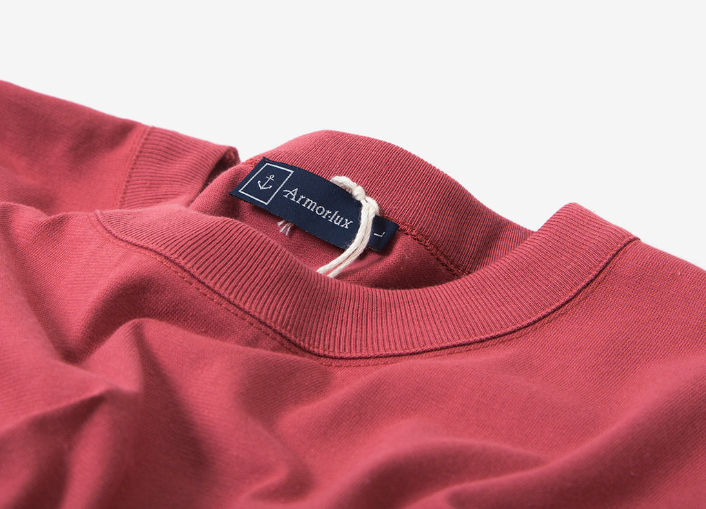 Armor Lux Basic T Shirt - Red Manganese