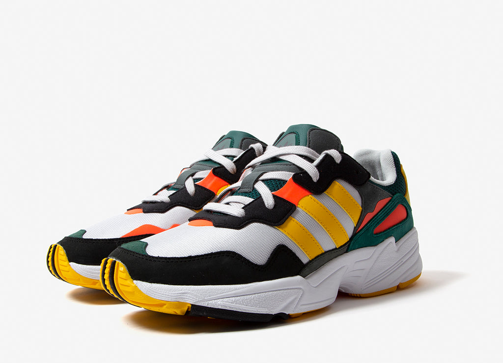 adidas Originals Yung-96 Shoes - Grey One/Bold Gold/ Solar Red