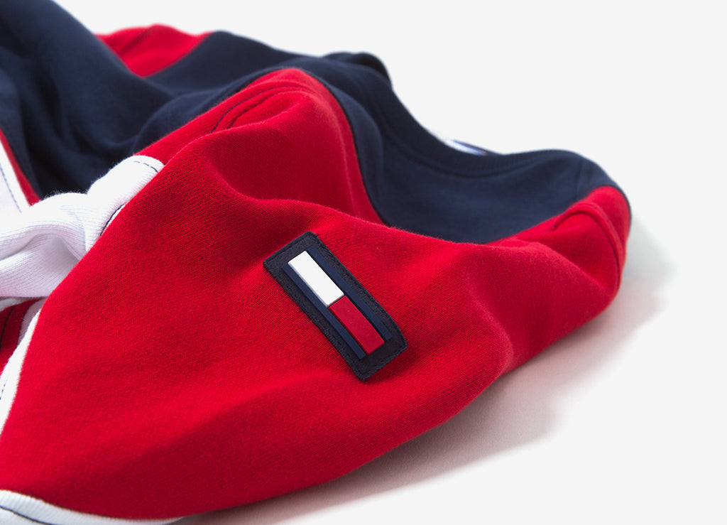 Tommy Jeans Symmetric Colourblock Crewneck Sweatshirt  - Racing Red